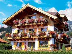 Flower Farmhouse, Austria (Colorluxe) Flowers Jigsaw Puzzle
