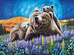 Blueberry Bears (Wild Country) Baby Animals Jigsaw Puzzle