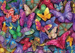 Colorful Butterflies Pattern / Assortment Jigsaw Puzzle