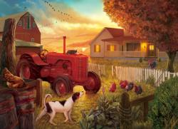 Dusk at the Farm Dogs Jigsaw Puzzle