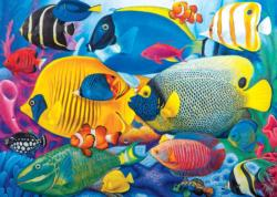 Fish School Collage Jigsaw Puzzle