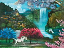 Unicorn Paradise Waterfalls Jigsaw Puzzle