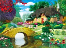 Storybook Cottage Flowers Jigsaw Puzzle