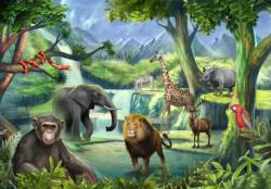 The Watering Hole Jungle Animals Jigsaw Puzzle