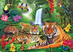 Tiger Paradise Tigers Jigsaw Puzzle