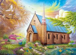 Serenity Church II Churches Jigsaw Puzzle