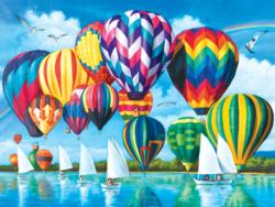 Hot Air Balloons Landscape Jigsaw Puzzle