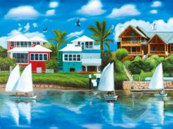Waterfront Vacation Seascape / Coastal Living Jigsaw Puzzle