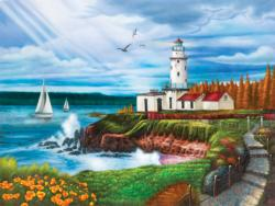 Lighthouse Cove Seascape / Coastal Living Jigsaw Puzzle
