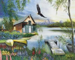 Morning Light Cottage / Cabin Jigsaw Puzzle