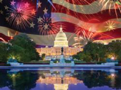 Land of the Free Flags Jigsaw Puzzle