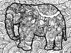 Elephant Elephants Coloring Puzzle