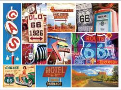 Route 66 (Collage Collection 1000) Nostalgic / Retro Jigsaw Puzzle