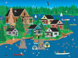 Lake Point Resort (Home Country 1000) Seascape / Coastal Living Jigsaw Puzzle