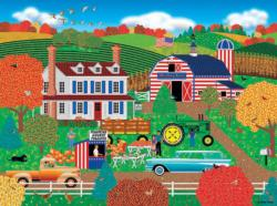 Old Glory Farm (Home Country 1000) Folk Art Jigsaw Puzzle
