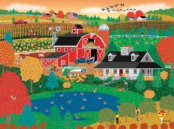 Apple Pond Farm Fall (Home Country 1000) Folk Art Jigsaw Puzzle
