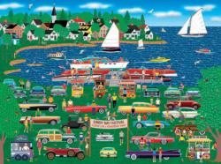 Classic Car Boat Show (Home Country 1000) Seascape / Coastal Living Jigsaw Puzzle
