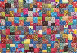 Colorful Heirloom Quilt Quilting & Crafts Jigsaw Puzzle