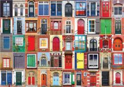 Colorful Dutch Doors and Windows (Colorluxe 1500) Pattern / Assortment Jigsaw Puzzle