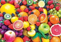 Fresh Mixed Fruits Collage Jigsaw Puzzle