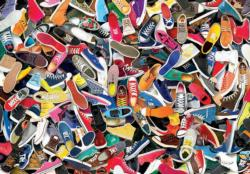 Lots of Shoes (Colorluxe 1500) Everyday Objects Jigsaw Puzzle