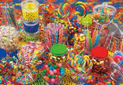 Fun Candy Table Sweets Jigsaw Puzzle