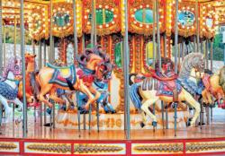Vintage Carousel Horses Nostalgic / Retro Jigsaw Puzzle