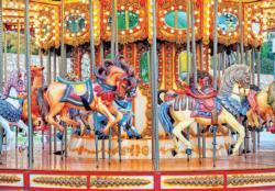 Vintage Carousel Horses (Colorluxe 1500) Nostalgic / Retro Jigsaw Puzzle