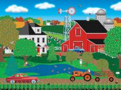 Pleasant Day on the Farm Vehicles Jigsaw Puzzle