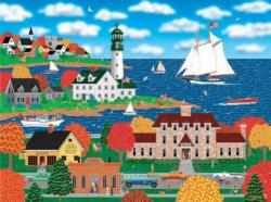 Coastal Autumn Seascape / Coastal Living Jigsaw Puzzle