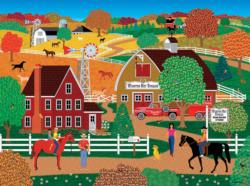Horse Country (Home Country 1000) Folk Art Jigsaw Puzzle