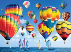 Balloons and Boats on a Hot Summer Day Photography Jigsaw Puzzle