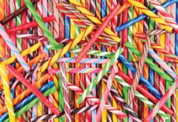 Colorful Candy Sticks Sweets Jigsaw Puzzle