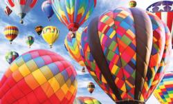 Fun in the Hot Air Balloons Balloons Jigsaw Puzzle