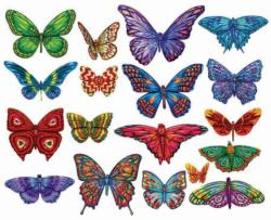 Butterflies II Collage Jigsaw Puzzle