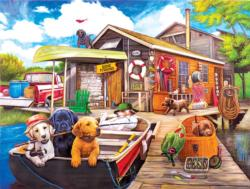 Gone Fishin' Fishing Jigsaw Puzzle