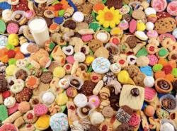 Cookies and Milk (Yummy 1000) Sweets Jigsaw Puzzle