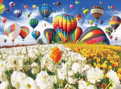 Balloon Flower Field Flowers Jigsaw Puzzle
