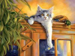 Observation Post (Fancy Cats 500) Cats Jigsaw Puzzle