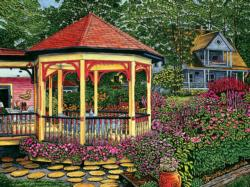 Gazebo at Chautauqua (Welcome Home 1000) Garden Jigsaw Puzzle