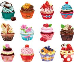 Cupcakes II Sweets Jigsaw Puzzle