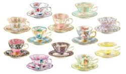 Teacups I Collage Jigsaw Puzzle