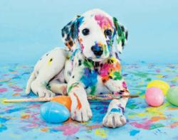 Painted Puppy (Colorluxe 100) Dogs Jigsaw Puzzle