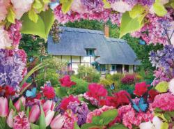 Summer Cottage (Flower Garden Cottages 500) Cottage / Cabin Jigsaw Puzzle