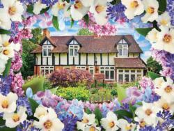 Lilac Cottage (Flower Garden Cottages 500) Flowers Jigsaw Puzzle