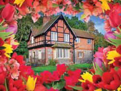 Autumn Cottage Flowers Jigsaw Puzzle