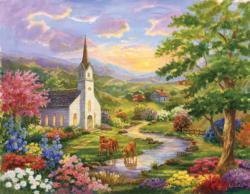 Serenity Churches Jigsaw Puzzle