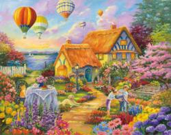 Spring in Grandmas Garden (Inspirations 1000) Cottage/Cabin Jigsaw Puzzle