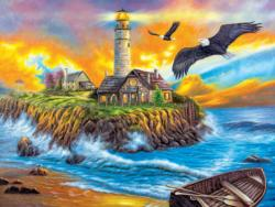 Sunset Cove Lighthouse (Inspirations 1000) Sunrise/Sunset Jigsaw Puzzle