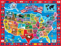 USA Map Maps / Geography Children's Puzzles